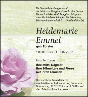Heidemarie Emmel