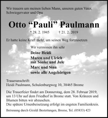 Otto Pauli Paulmann