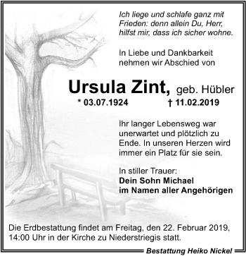 Ursula Zint