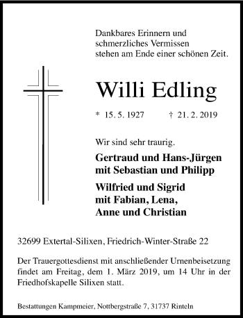 Willi Edling