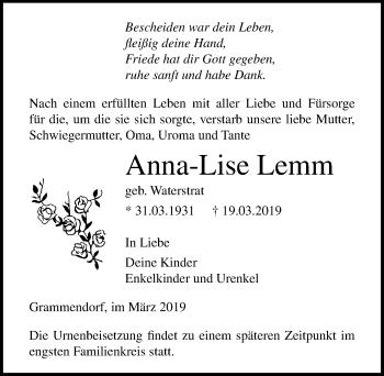 Anna-Lise Lemm