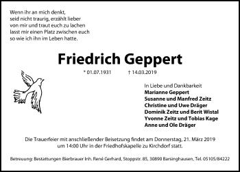 Friedrich Geppert