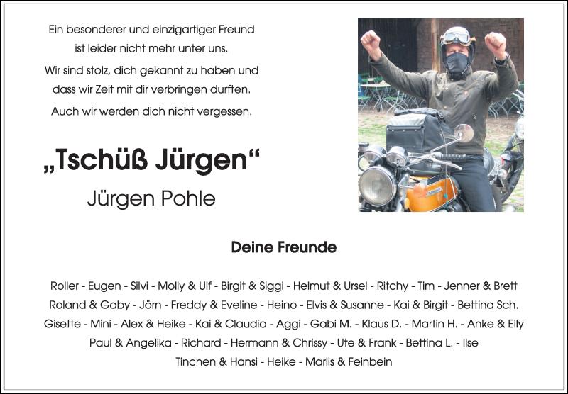 Traueranzeige für Jürgen Pohle vom 16.03.2019 aus Kieler Nachrichten
