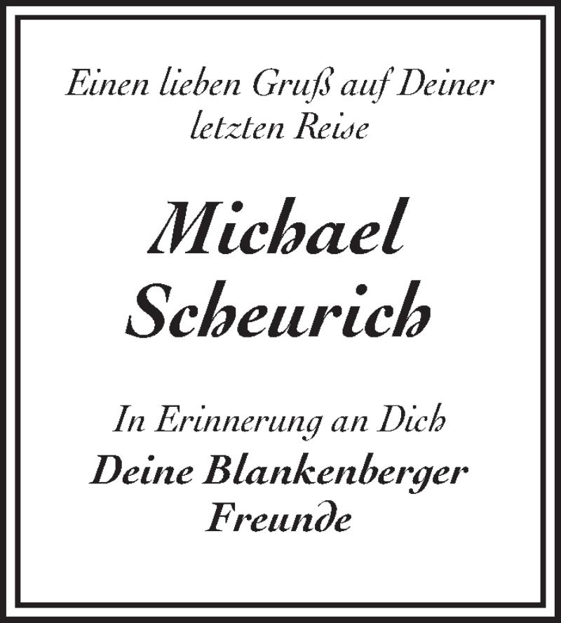 Traueranzeige für Michael Scheurich vom 20.02.2019 aus Märkischen Allgemeine Zeitung