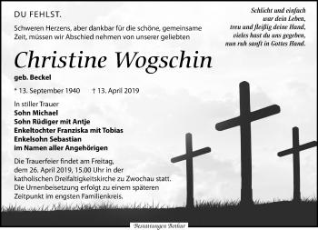 Christine Wogschin