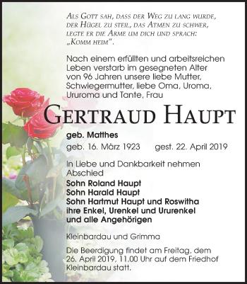 Gertraud Haupt