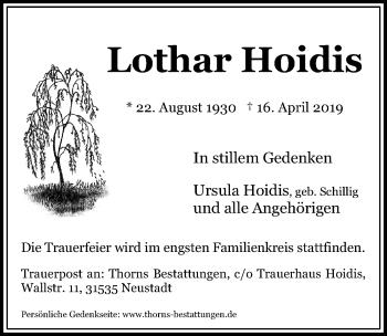Lothar Hoidis