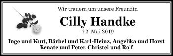 Traueranzeige für Cilly Handke vom 10.05.2019 aus Peiner Allgemeine Zeitung