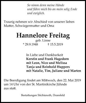 Hannelore Freitag