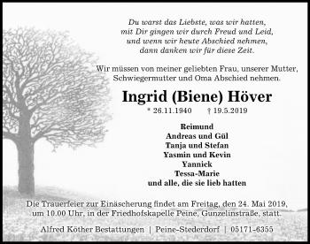 Ingrid Biene Höver