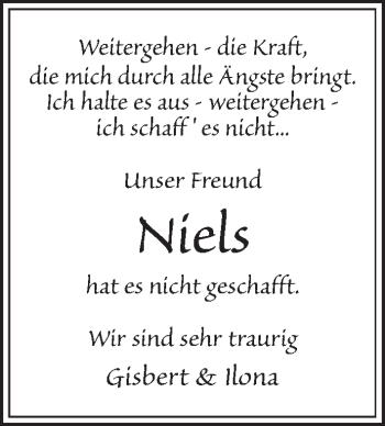 Traueranzeige für Niels Ahlswe vom 15.05.2019 aus Kieler Nachrichten