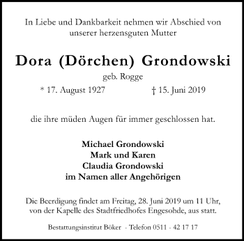 Dora Dörchen Grondowski