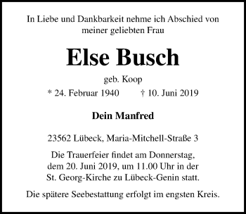 Else Busch