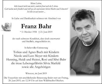 Franz Bahr