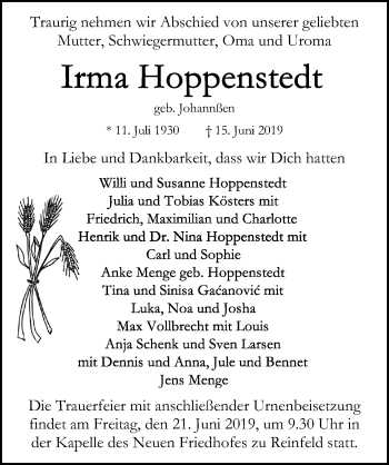 Irma Hoppenstedt