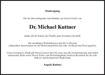 Traueranzeige für Michael Kuttner vom 01.06.2019 aus Märkischen Allgemeine Zeitung