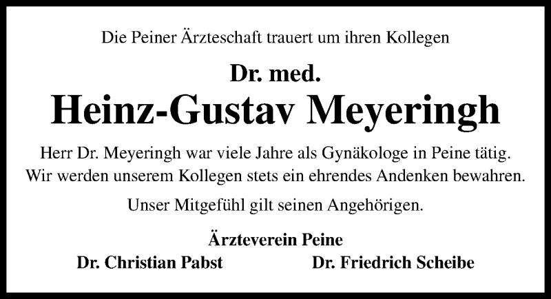 Traueranzeige für Heinz-Gustav Meyeringh vom 20.07.2019 aus Peiner Allgemeine Zeitung