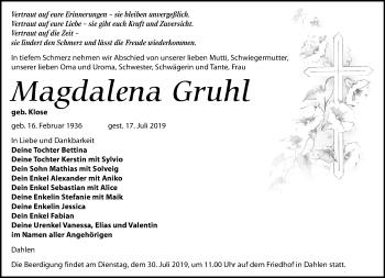 Magdalena Gruhl
