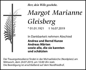 Margot Marianne Gleisberg