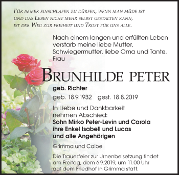 Brunhilde Peter