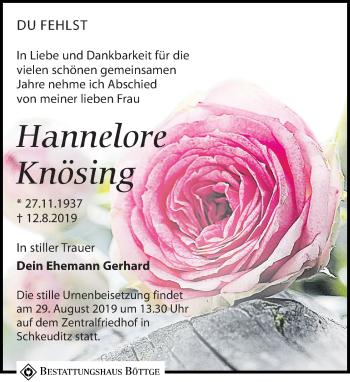 Hannelore Knösing
