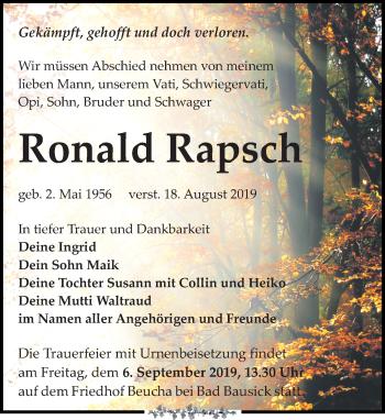 Ronald Rapsch