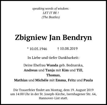 Zbigniew Jan Bendryn