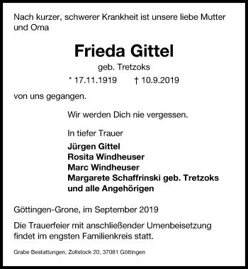 Frieda Gittel