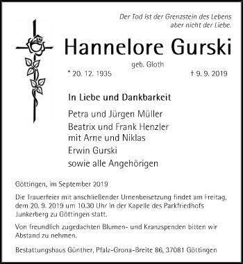 Hannelore Gurski