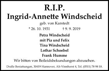 Ingrid-Annette Windscheid