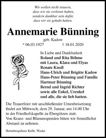 Annemarie Bünning