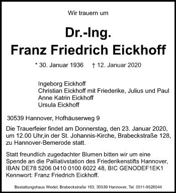 Franz Friedrich Eickhoff
