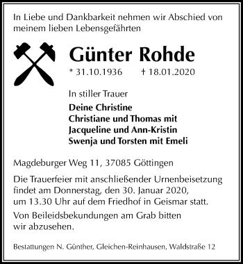 Günter Rohde