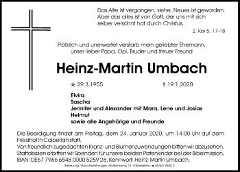 Heinz-Martin Umbach