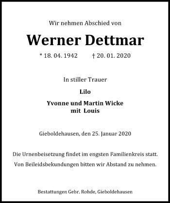 Werner Dettmar
