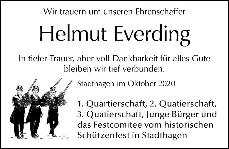 Traueranzeige für Helmut Everding vom 17.10.2020 aus Schaumburger Nachrichten