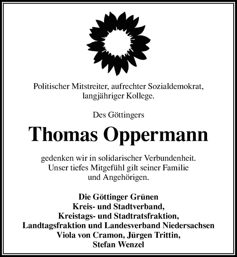 Traueranzeige für Thomas Oppermann vom 30.10.2020 aus Göttinger Tageblatt