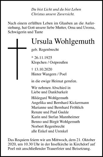Ursula Wohlgemuth