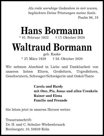 Waltraud Bormann