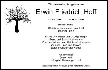 Erwin Friedrich Hoff