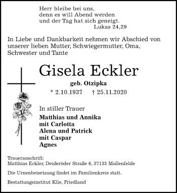 Gisela Eckler