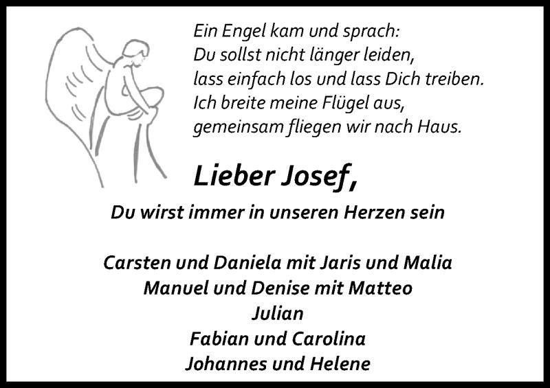 Traueranzeige für Josef  vom 28.11.2020 aus Eichsfelder Tageblatt