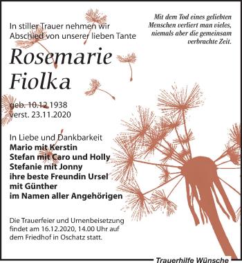 Rosemarie Fiolka
