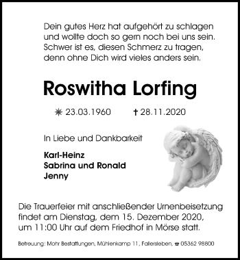 Roswitha Lorfing