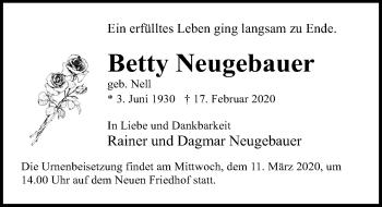 Betty Neugebauer