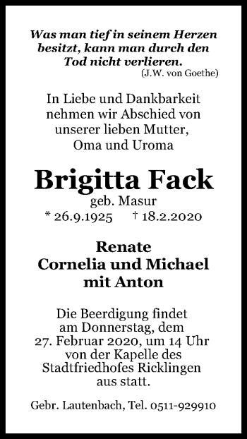 Brigitta Fack