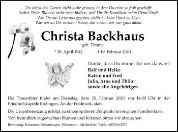 Christa Backhaus