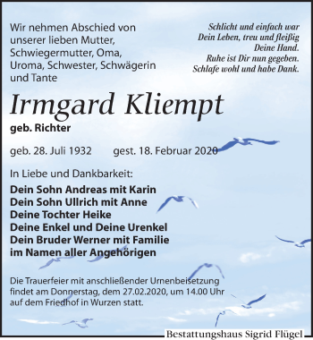 Irmgard Kliempt