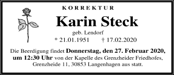 Karin Steck Lendorf