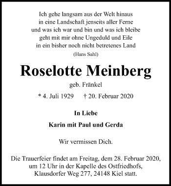 Roselotte Meinberg